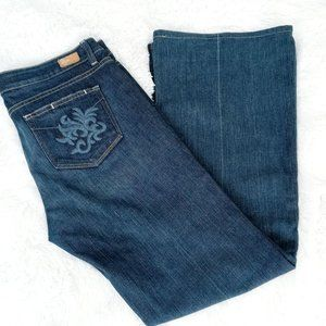 Women's Paige Robertson Embroidered Pocket Jeans